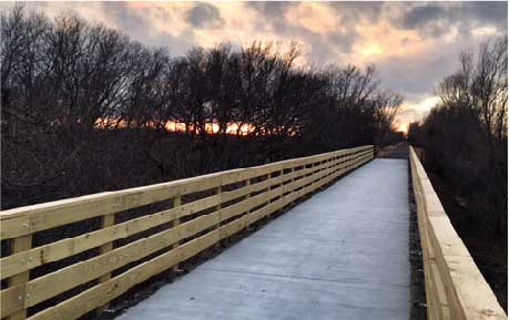 Prairie Sunset Trail tressel bridge